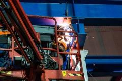 Impressionen der Arbeiten während der Vollsperrung der Rheinbrücke Emmerich. Samstag 20.01.2019, in Emmerich. Foto: Christian Creon