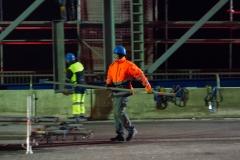 Impressionen der Arbeiten während der Vollsperrung der Rheinbrücke Emmerich. Sonntag 20.01.2019, in Emmerich. Foto: Christian Creon / FUNKE Foto Services